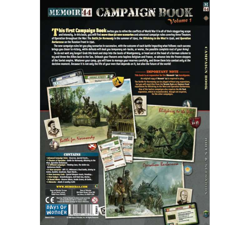 Настольная игра Memoir 44: Campaign Book